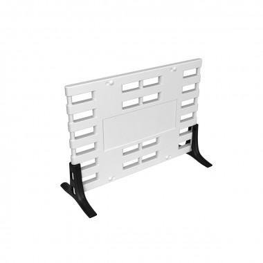 Ограждение барьерное «ARGO» с пластиковыми опорами белый