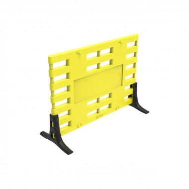 Ограждение барьерное «ARGO» с пластиковыми опорами желтый