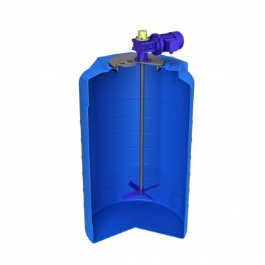 Емкость T 500 синий с лопастной мешалкой