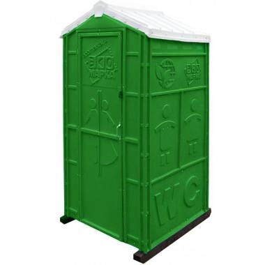 """Мобильная туалетная кабина """"Стандарт Плюс"""" в сборе зеленая"""