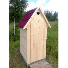 Дачный туалет с двухскатной крышей - Единичка