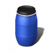 Бочка б/у пластиковая 170 литров с крышкой и хомутом